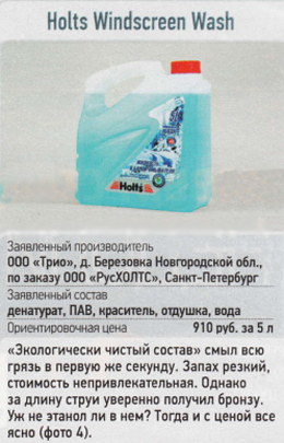 омывайка Holts Windscreen Wash